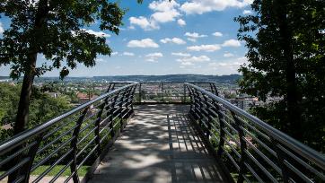 Ausblick in der Natur über Wuppertal