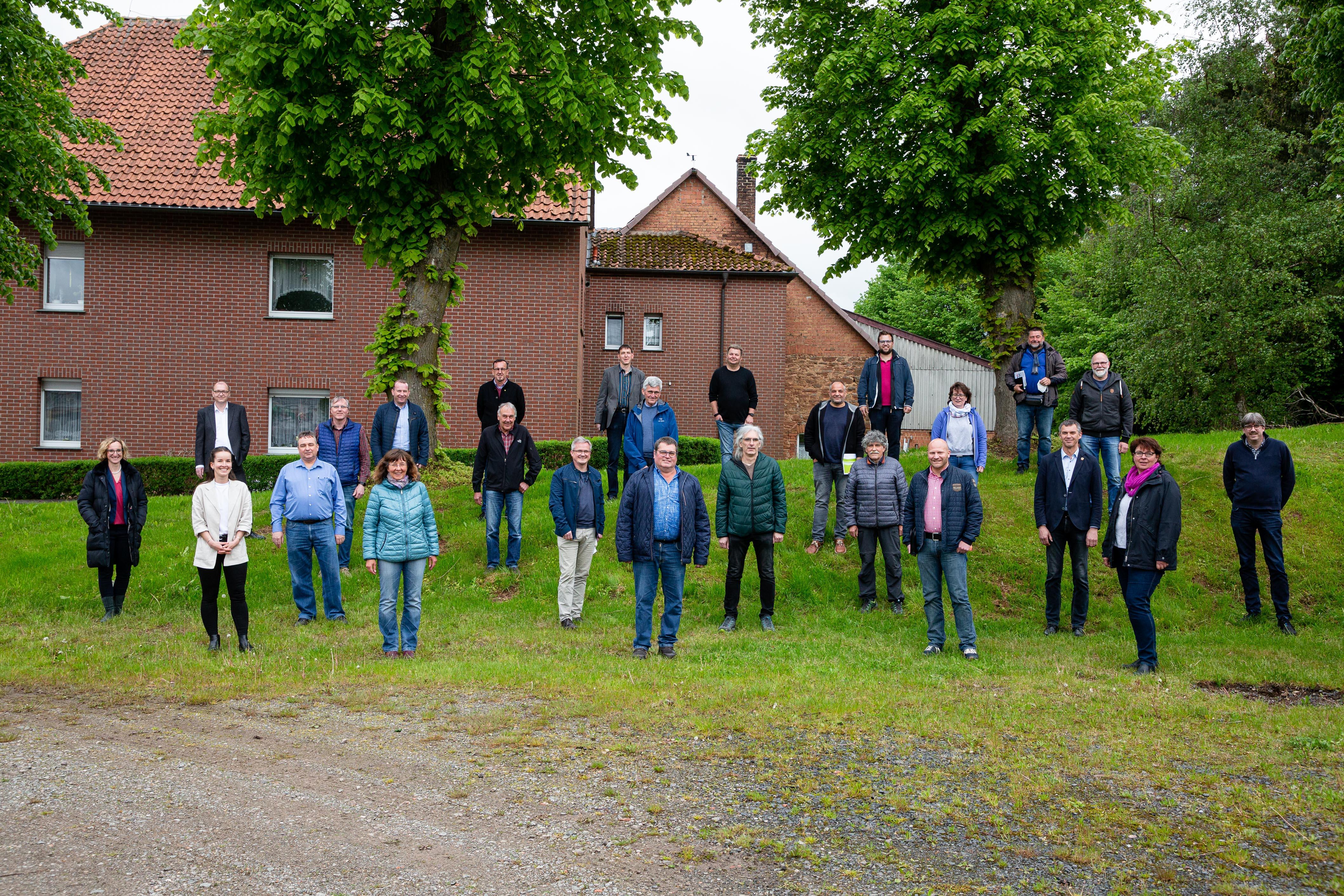 Foto der Mitglieder der Lokalen Partnerschaft für Waldeck und Sachsenhausen