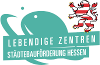 Logo Lebendige Zentren Städtebauförderung Hessen
