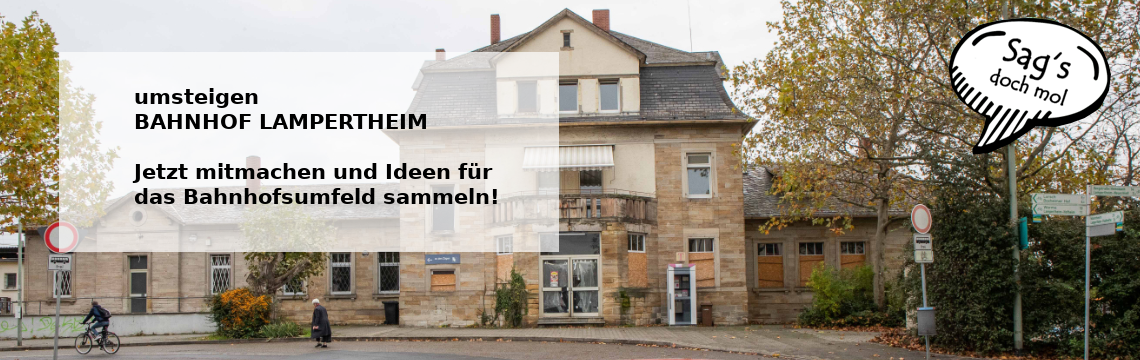 Sags doch mol - Bürgerbeteiligung in Lampertheim