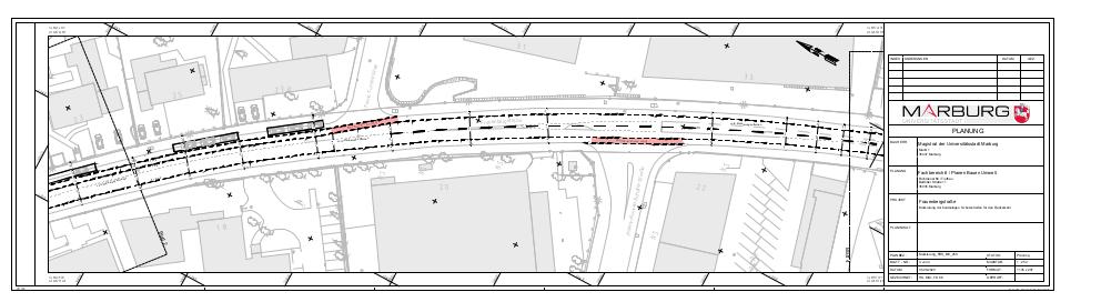 Übersichtsplan des dritten Abschnitts der Frauenbergstraße