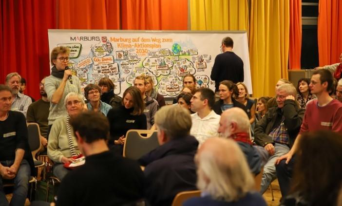 Foto einer Veranstaltung zur Erarbeitung des Klimaaktionsplans